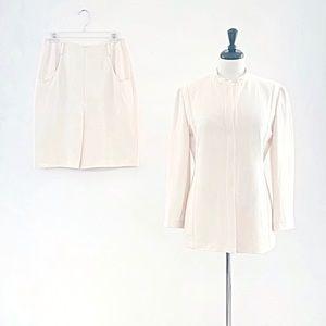 Giorgio Armani Cream Skirt Suit